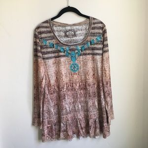 V Christina Embellished tunic